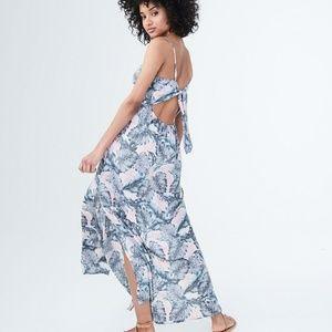 Aeropostale Palm Branch Maxi Dress